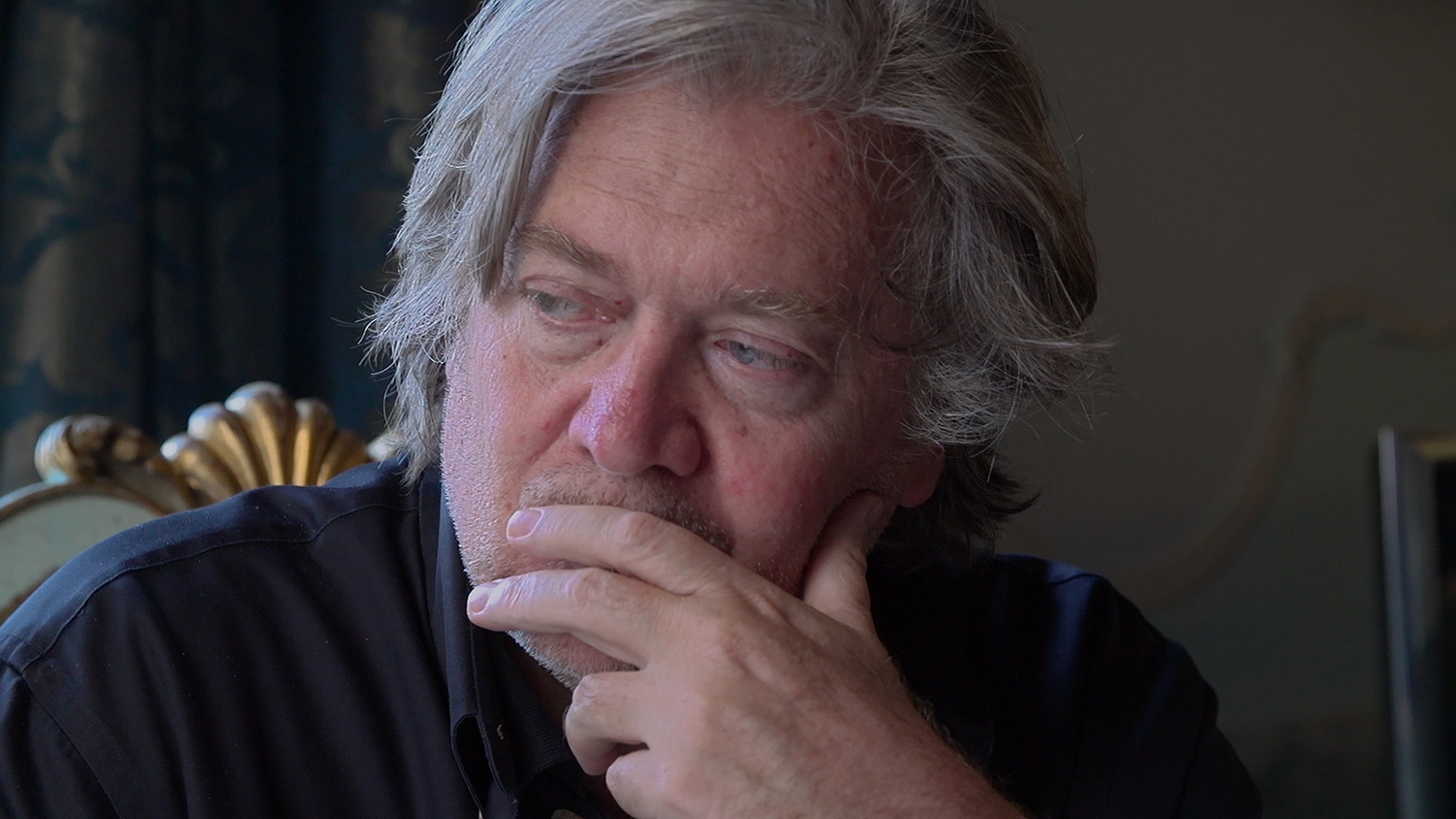 "Steve Bannon, subject of Alison Klayman's ""The Brink,"" a Magnolia Pictures release. Courtesy of Magnolia Pictures"