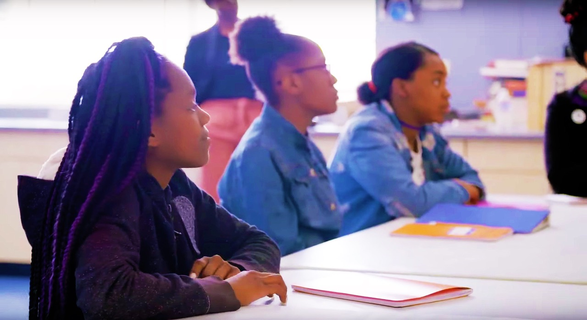 From Jacoba Atlas' 'PUSHOUT: The Criminalization of Black Girls in Schools,' which premieres March 16 on PBS. Courtesy of Women in the Room Productions