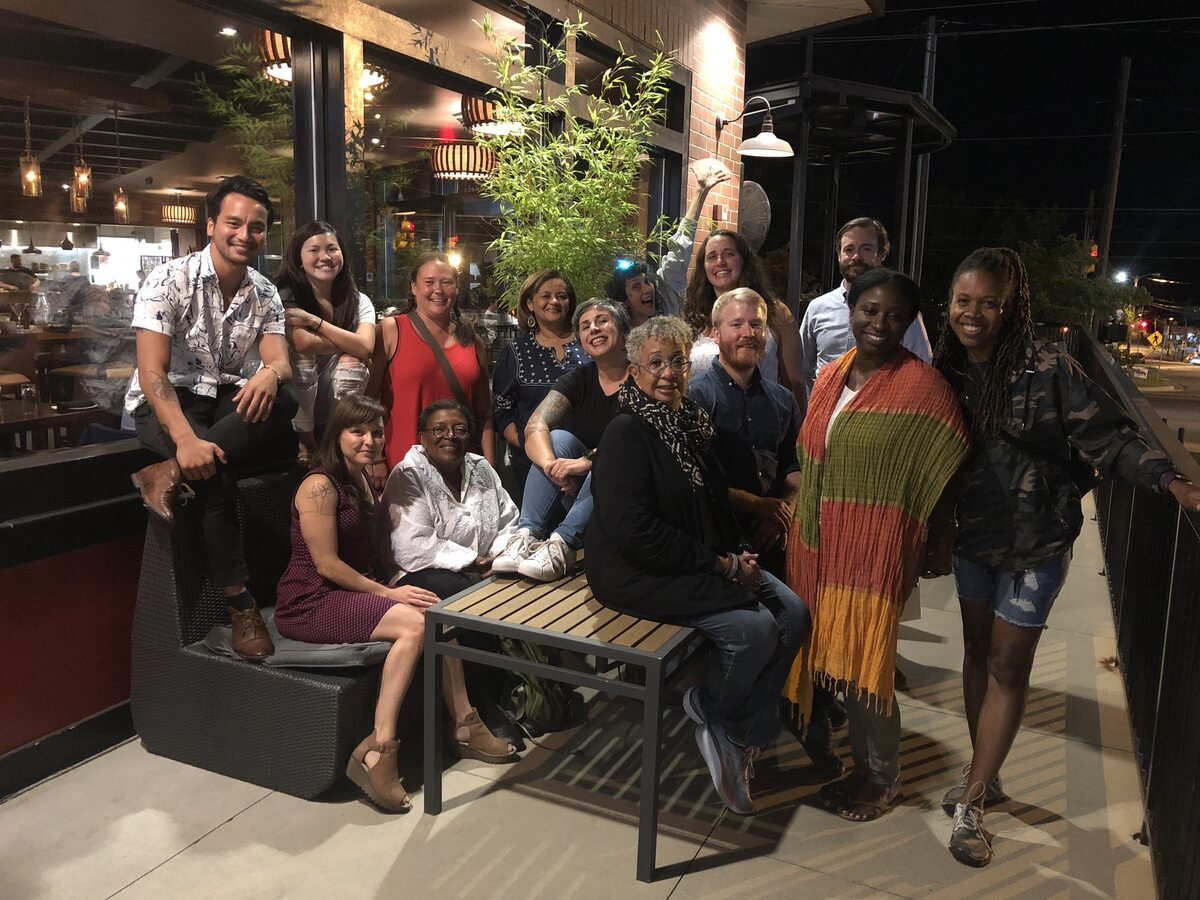 Board, staff and allies of Working Films at a strategic planning retreat, September 2019. Courtesy of Working Films