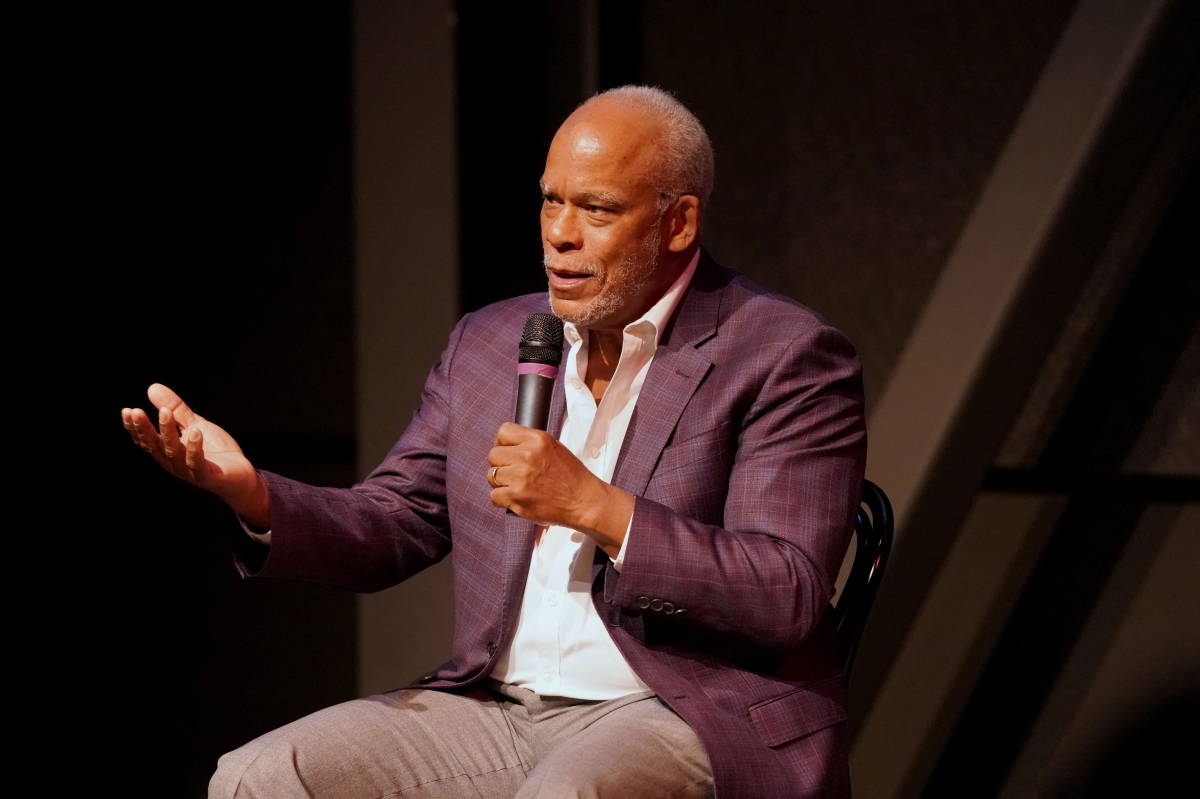 Filmmaker Stanley Nelson leading a master class earlier this year, presented by IDA and BADWest. Photo: Laura Ahmed