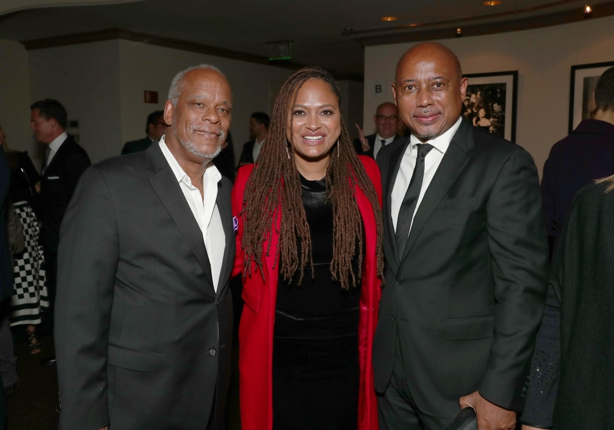 At the 2016 IDA Documentary Awards, left to right: Stanley Nelson, Ava Duvernay, Raoul Peck. Photo: Todd Williamson