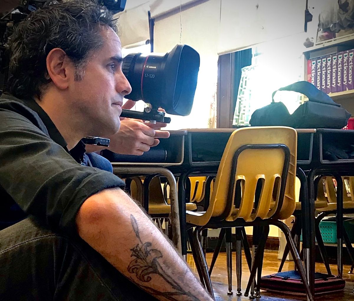 Filmmaker Todd Chandler in production on 'Bulletproof.' Courtesy of Daniella Varga