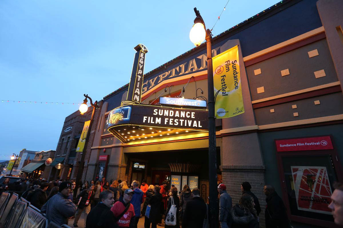 The marquee of the Egyptian Theatre, one of the venues of the Sundance Film Festival. Curtesy of Sundance Institute