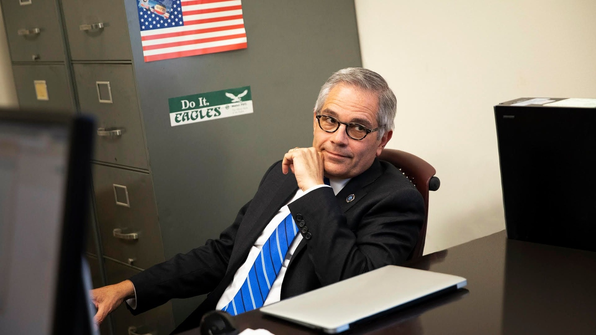 Larry Krasner, protagonist from the docuseries 'Philly D.A.' Courtesy of Beck Media
