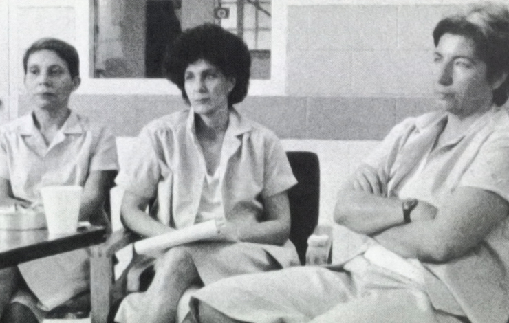 Left to right: Alejandrina Torres, Susan Rosenberg, Silvia Baraldini