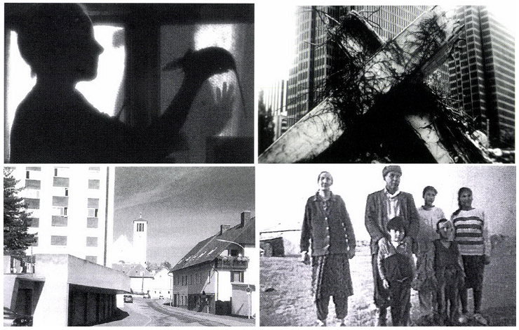 Clockwise, top-left: <em>Rat Woman, In the Course of Human Events, Black Ashes</em> and <em>Knittelfeld</em>