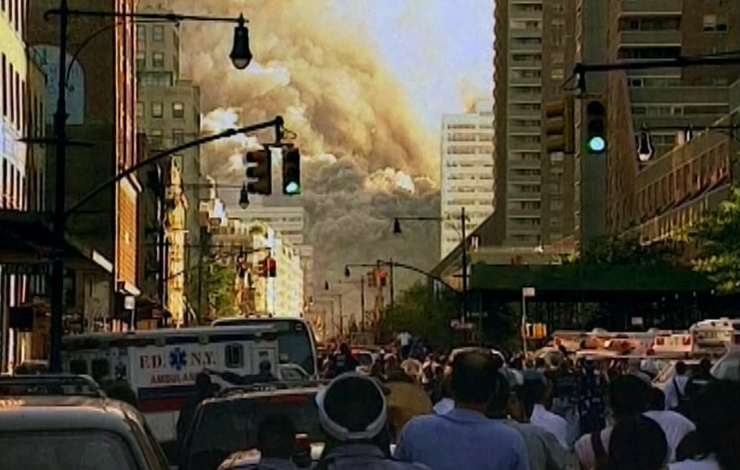 From  <em>In Memoriam: New York City, 9/11/01</em> (Brad Grey Pictures/Kunhardt Productions/HBO Original Programming), the hour-long documentary that aired on HBO in May.