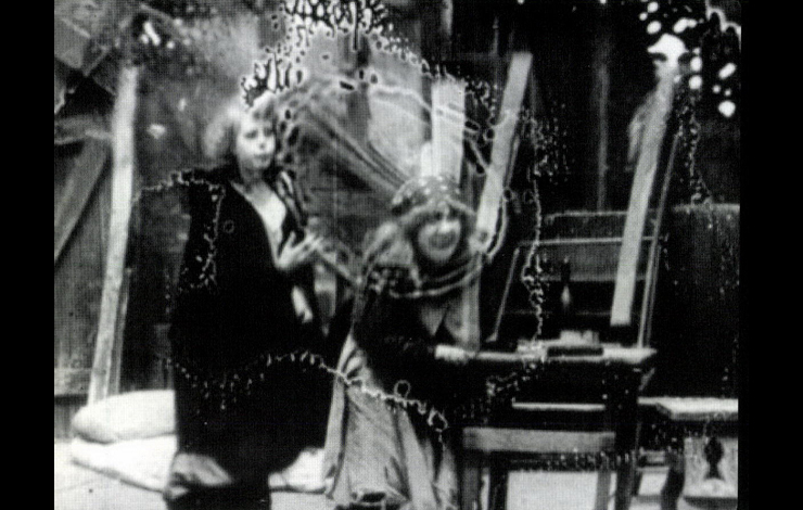 Frame enlargement from <em>The Orphans </em>(1911, Selig Plyscope), one of three film versions of the French stage drama produced before D.W. Griffith's epic reinvention of the story for his French Revolution melodrama <em>Orphans of the Storm</em> (1921).