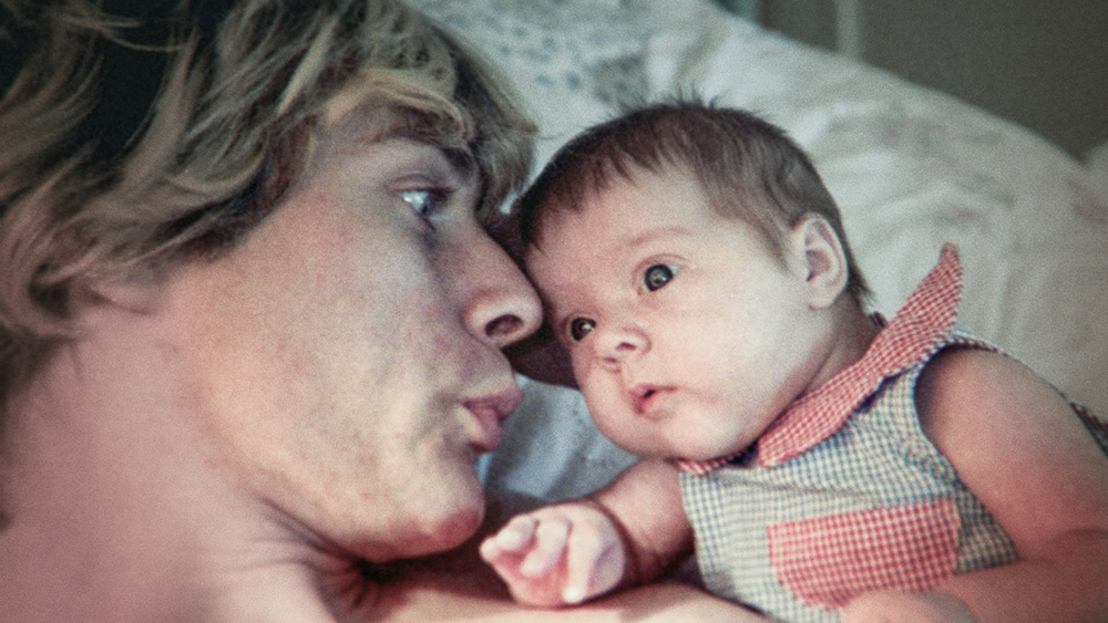 Kurt Cobain with his daughter, Frances. Photo: The End of Music, LLC/courtesy of HBO