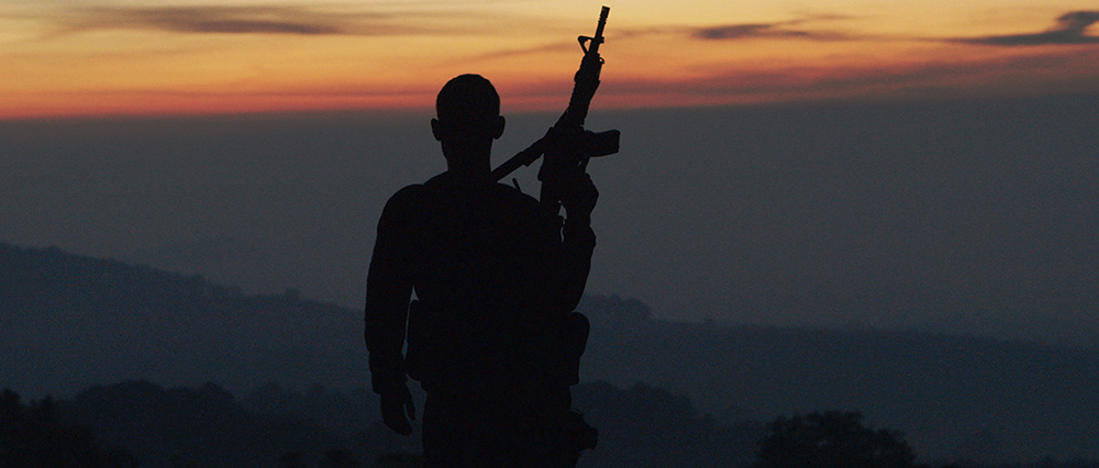 Autodefensa member standing guard in Michoacán, Mexico, from CARTEL LAND, a film by Matthew Heineman