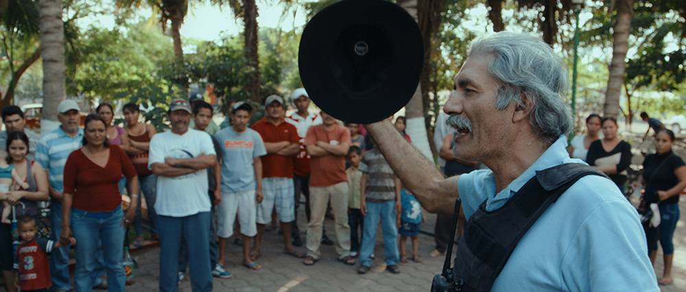 Dr. Jose Mireles addressing a crowd in Michoacán, Mexico, from CARTEL LAND, a film by Matthew Heineman