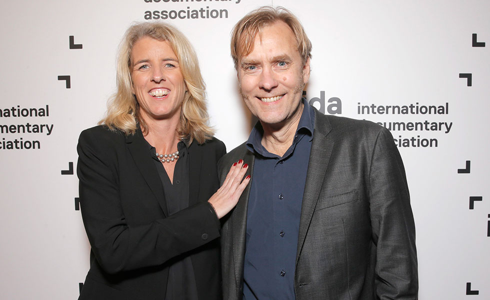 Rory Kennedy and 'Last Days in Vietnam' editor Don Kleszy at the 30th IDA Documentary Awards. Photo: Todd Williamson/Invision for IDA/AP Images