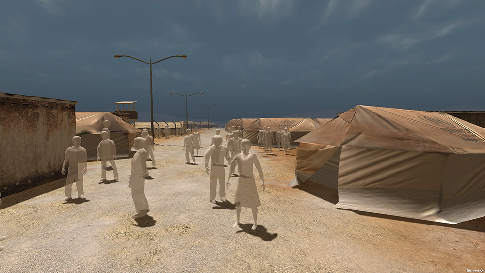 Nonny de la Peña's virtual reality work 'Project Syria'. Courtesy of Nonny de la Peña.