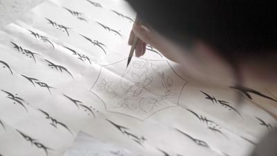 Film still from 'Hidden Letters'