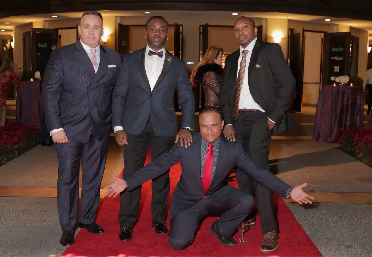 Members of the NYPD12 pose on the red carpet at the IDA Awards. Photo by Rebecca Sapp.