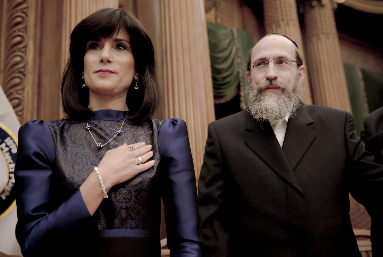 "Judge Ruchie Freier (left) with her husband, Tzvi Dovid Freier. From Paula Eiselt's ""93Queen,"" which airs September 17 on POV. Courtesy of Paula Eiselt and Heidi Reinberg"