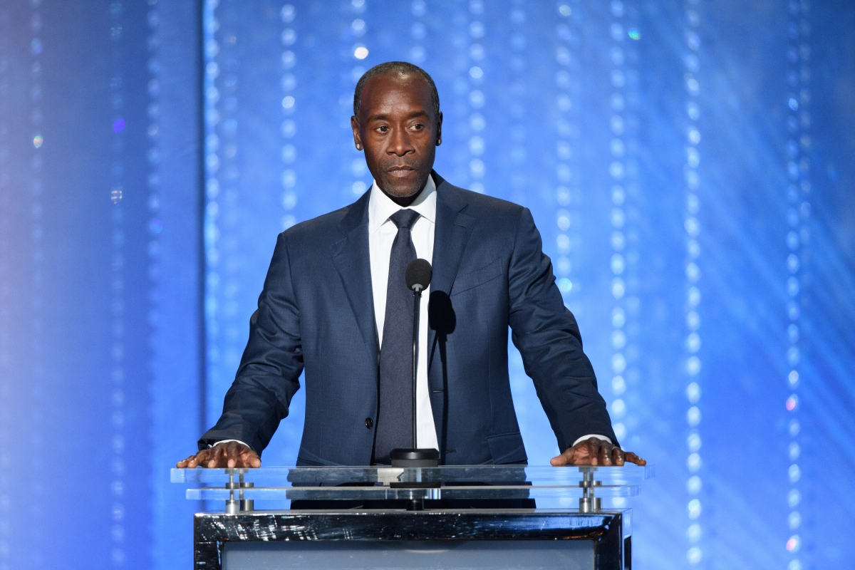 Oscar®-nominated actor Don Cheadle presents an Honorary Award to filmmaker Frederick Wiseman at the 2016 Governors Awards. Photo: Aaron Poole / ©A.M.P.A.S.