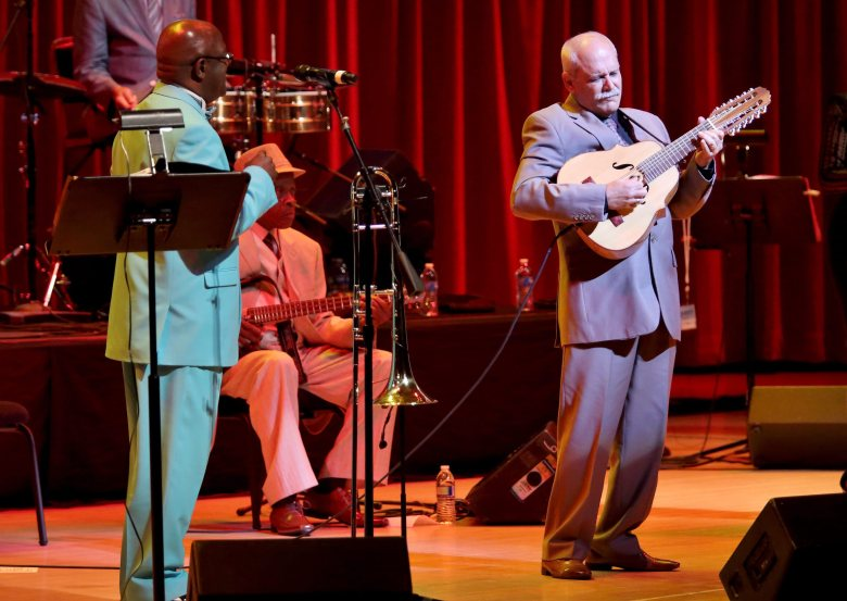Buena Vista Social Club at Miami's Knight Concert Hall. Herrera/Epa/REX/Shutterstock.