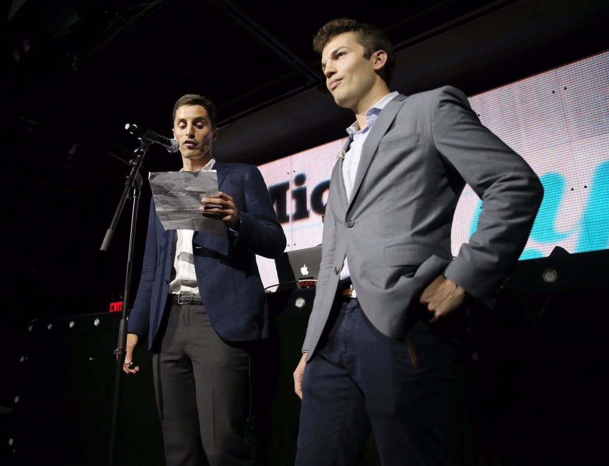From left, Mic.com co-founders Chris Altchek and Jake Horowitz at the Mic50 Awards in June 2015. Neilson Barnard / Getty Images for Grey Goose.