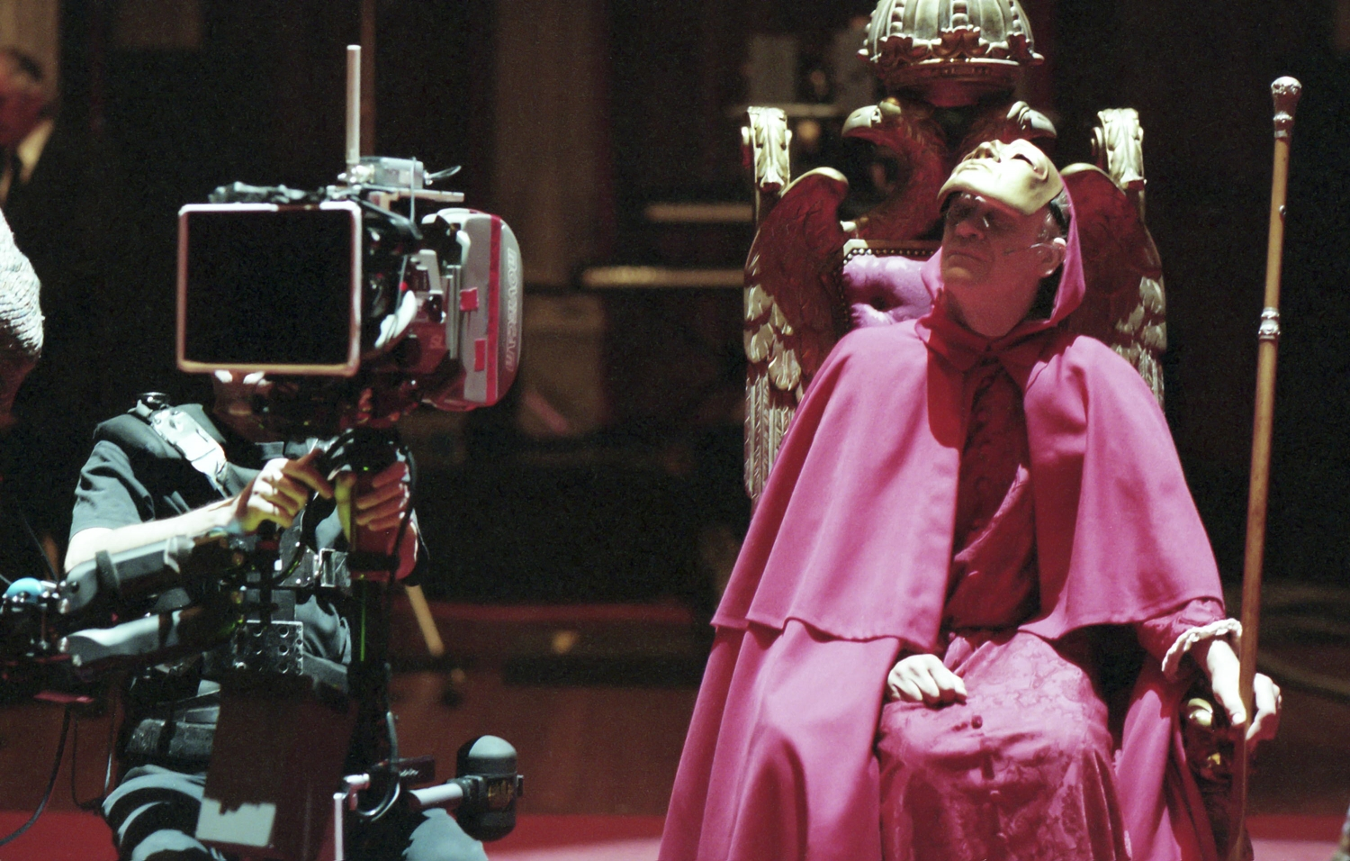 On the set of Stanley Kubrick's 'Eyes Wide Shut.' Courtesy of Kino Lorber