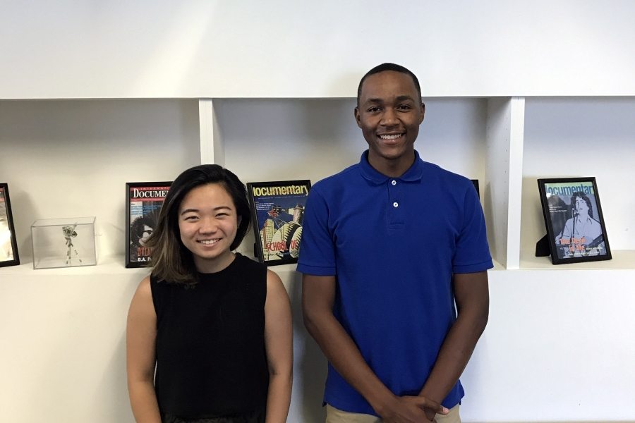 IDA interns Cecilia Hua and Xavier Allison.