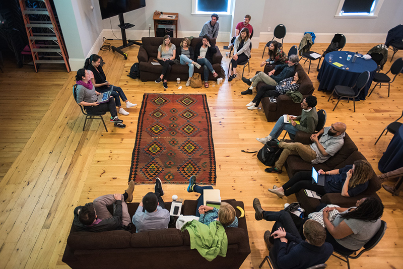 A feedback session at the Camden/TFI Retreat. Photo: Alexandra Morrow