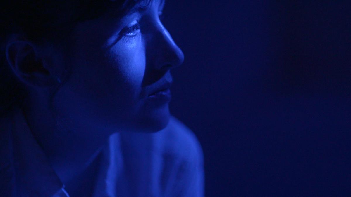 Kate Lyn Sheil in Robert Greene's <em>Kate Plays Christine</em>. Courtesy of Grasshopper Film.