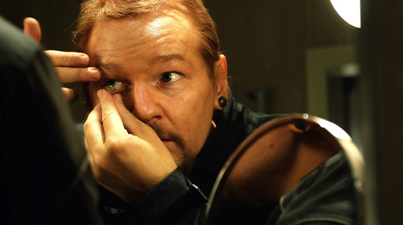 Julian Assange, featured in Laura Poitras' 'Risk'. Courtesy of Praxis Films/Field of Vision
