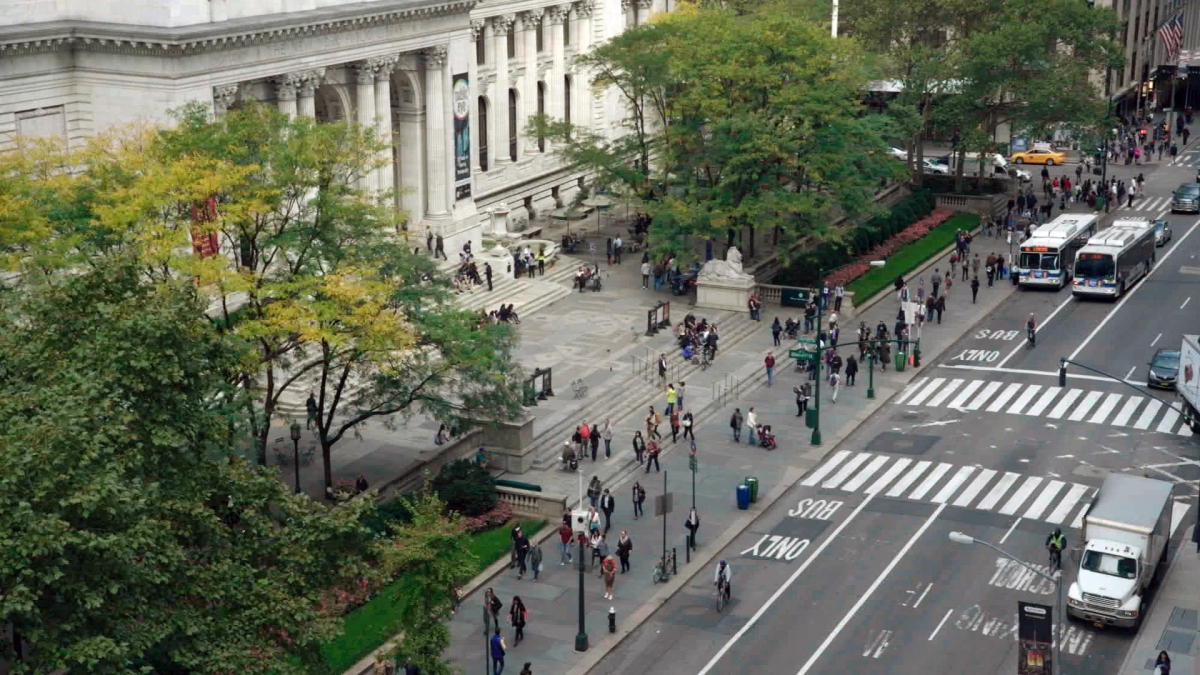 "A scene from Frederick Wiseman's ""EX LIBRIS – The New York Public Library."" Courtesy of Zipporah Films."
