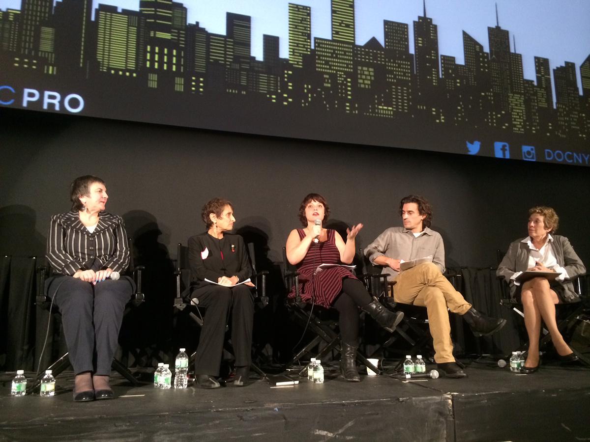 Crafting a Story With Archival panel: Rosemary Rotondi, Nan Halperin, Penny Lane, Sam Cullman, Karen Shatzkin