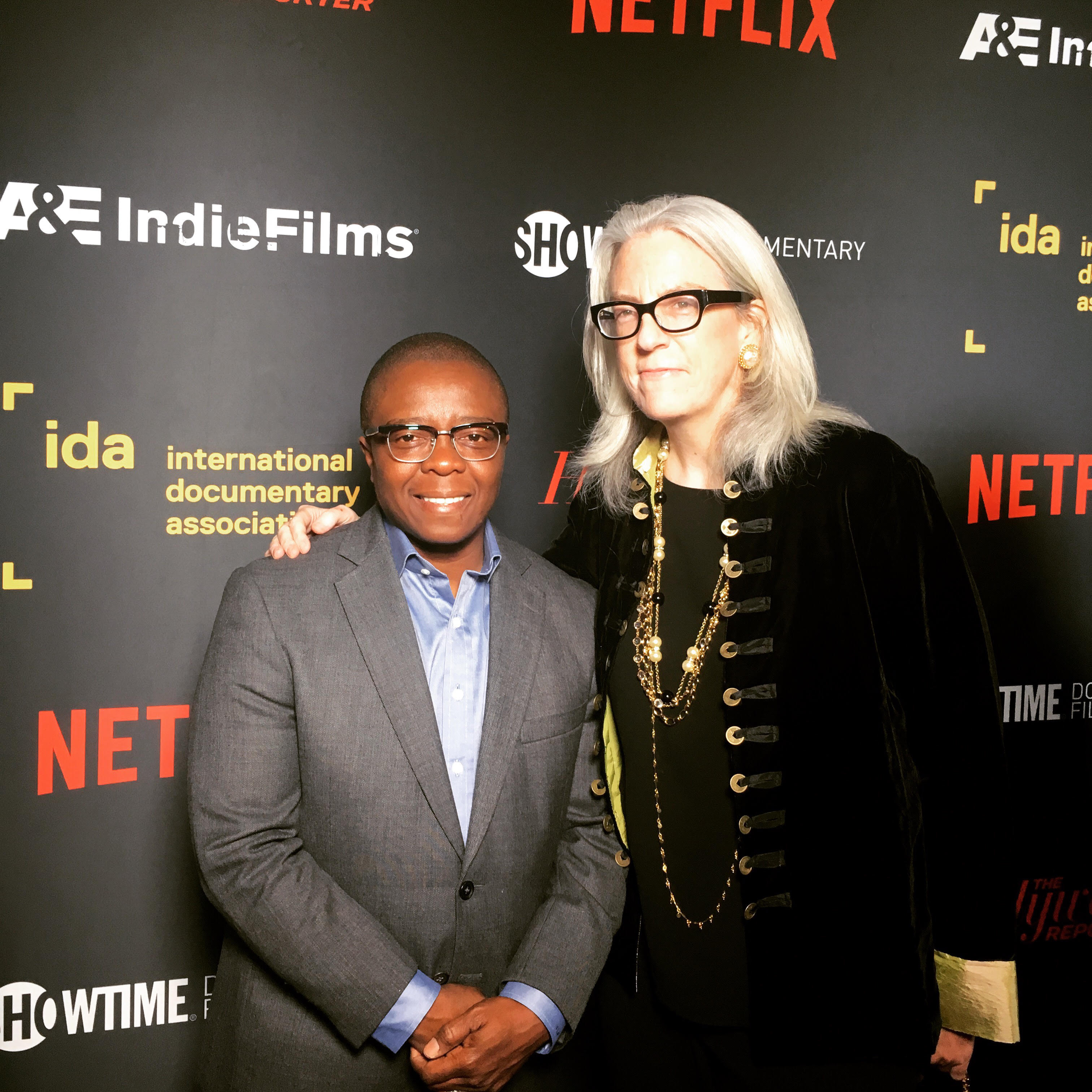 'Strong Island' director Yance Ford and producer Joslyn Barnes. Photo: Meena Nanji.