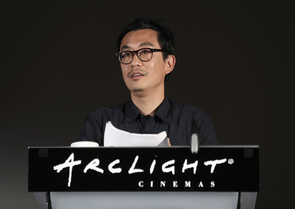 Chi-hui Yang at Getting Real. Photo by Todd Williamson for the International Documentary Association.