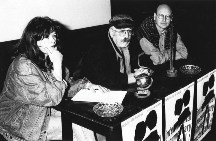 Ally Derks, Jan Vrijman and Walter Etty, 1990. Photo courtesy IDFA.