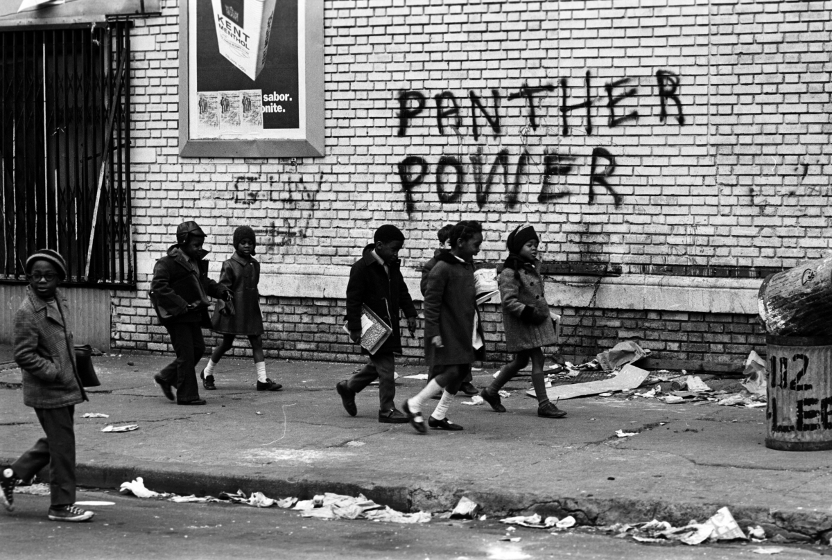 "From ""The Black Panthers: Vanguards of the Revolution.""  Photo courtesy of Stephen Shames."