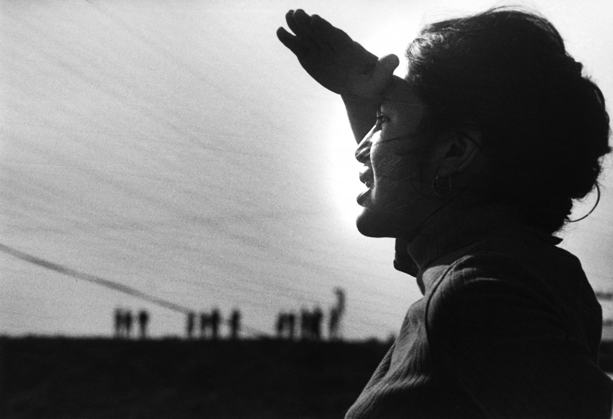 Dolores Huerta at the Delano Strike in 1966. Photo by Jon Lewis, courtesy of LeRoy Chatfield.