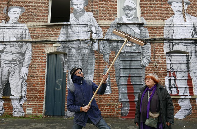 JR and Agnes Varda in 'Faces Places.' Courtesy of Cohen Media Group.