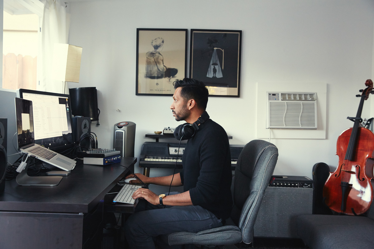 Hrishikesh Hirway, producer of the Radiotopia podcast Song Exploder. Courtesy of Radiotopia