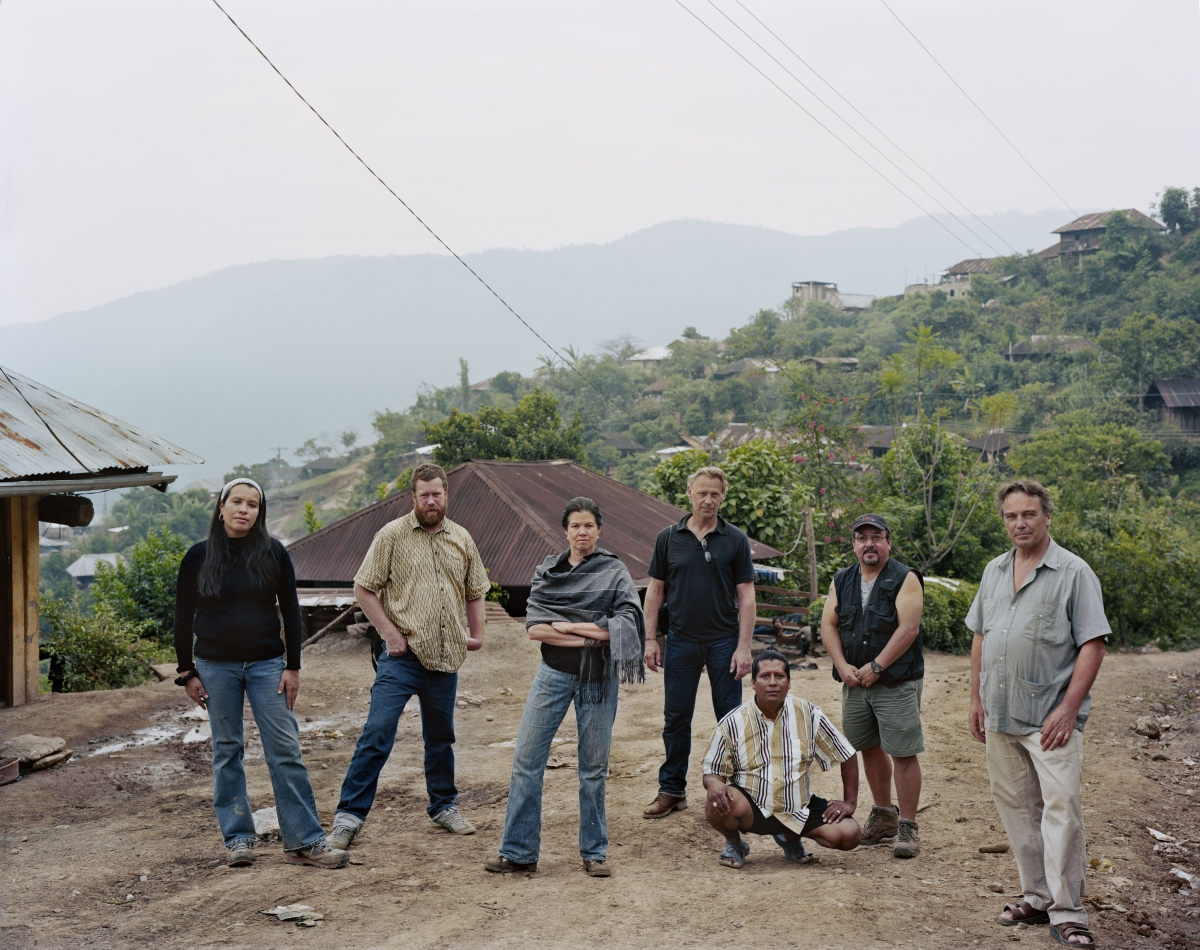 Pamela Yates (center) with the Guatemalan, American and Dutch crew during the filming of 'Granito' in the Guatemalan highlands 2010. (Photo: Dana Lixenberg)