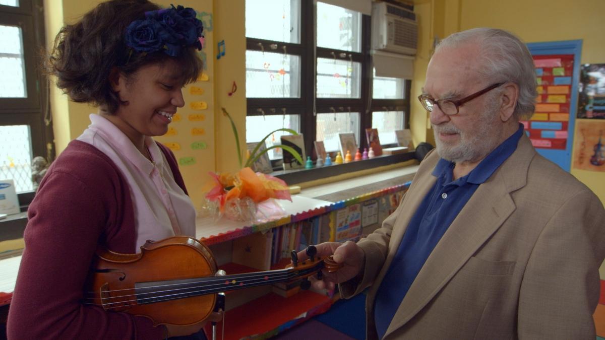 Brianna Perez and Joe Feingold. Courtesy of 'Joe's Violin.'