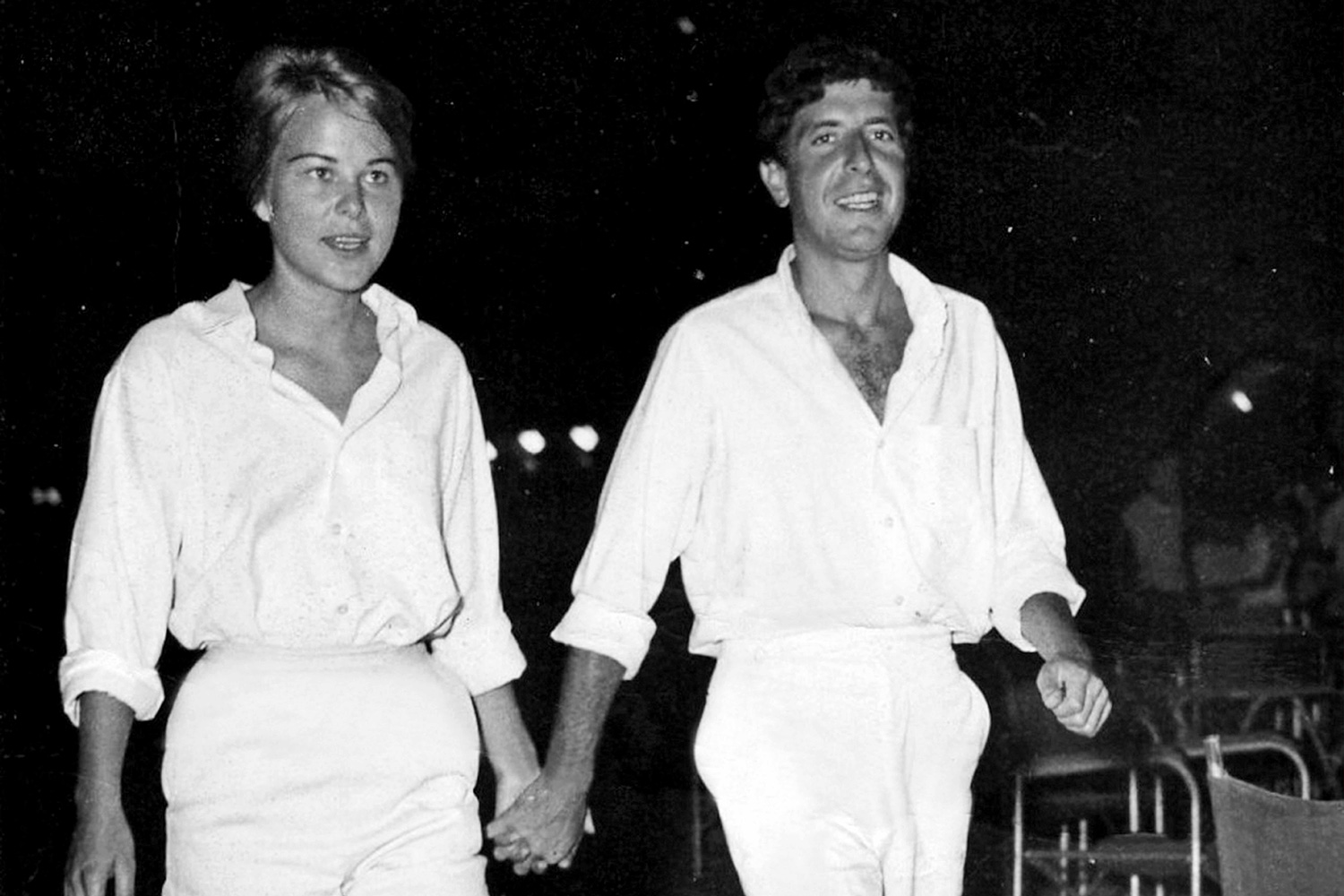 Marianne Ihlen and Leonard Cohen, featured in Nick Broomfield's 'Marianne and Leonard: Words of Love.' Courtesy of Roadside Attractions