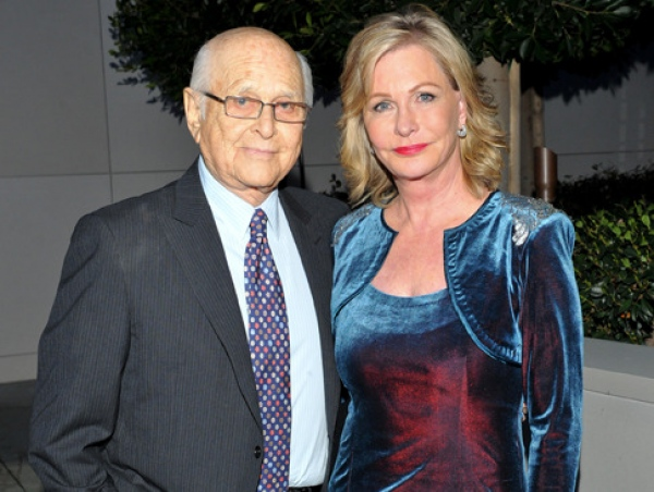 Norman Lear with friendly, Wife Lyn Lear