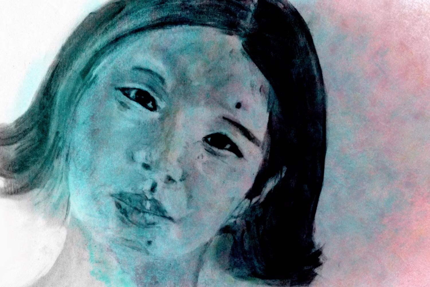 A portrait of Zeng Jinyan from 'Outcry and Whisper', a film byWen Hai and Zeng Jinyan; animation directed by Trish McAdam. Courtesy of Icarus Films