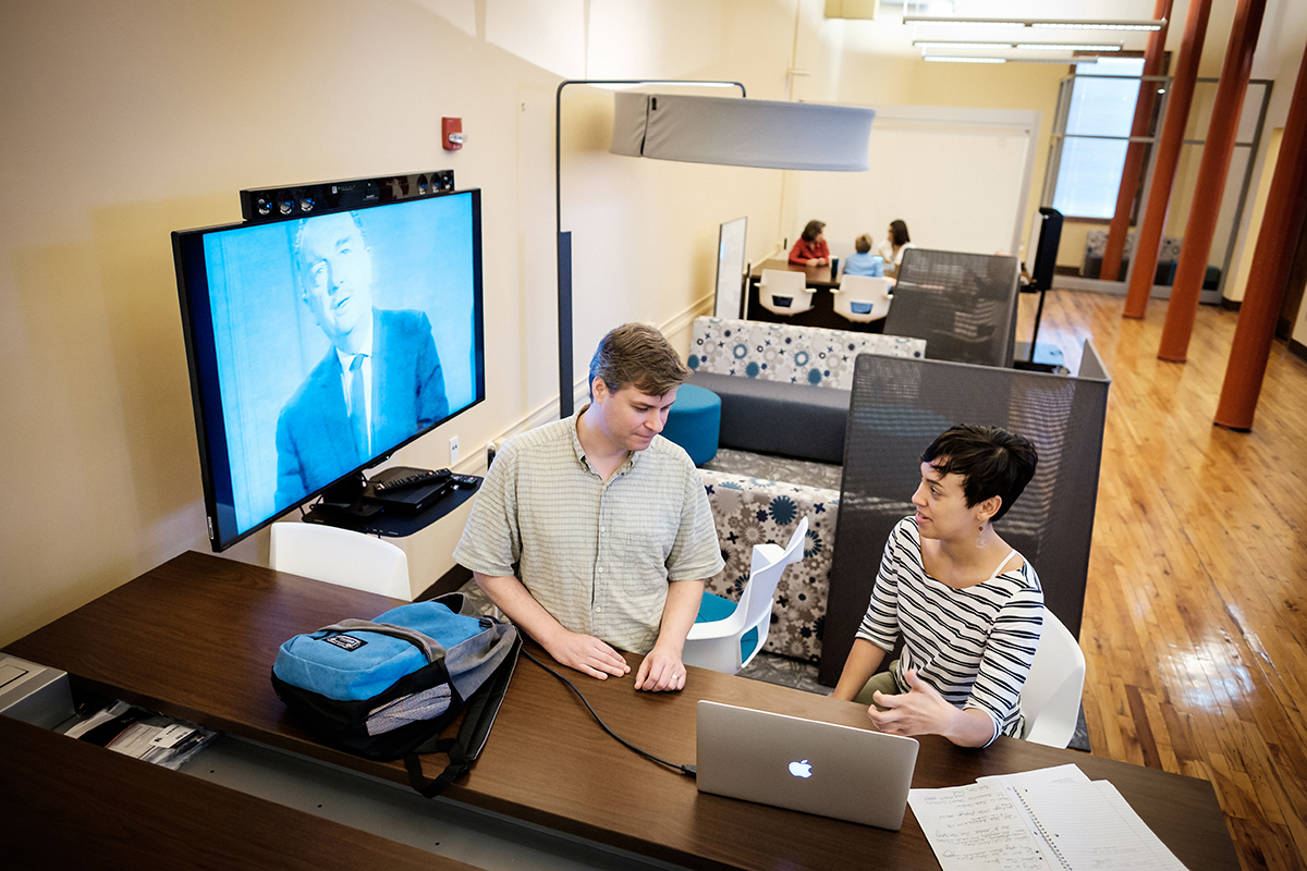 Housed in an historic cotton mill, the DFP offers a learning environment that fosters creativity and collaboration. Photo courtesy of Ken Bennett, Wake Forest University.