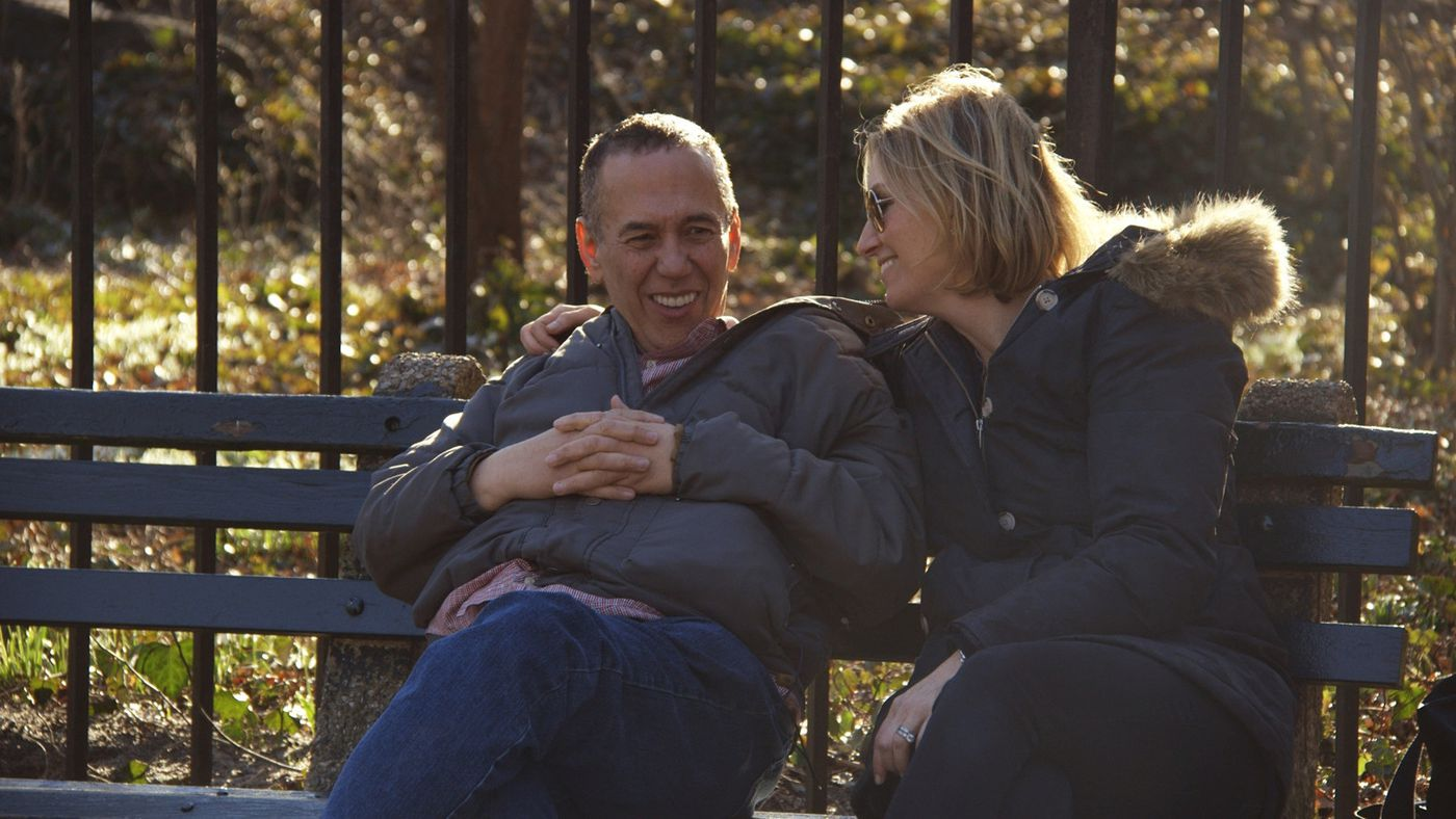 Gilbert Gottfried and his wife, Dara Gottfried, in the documentary.