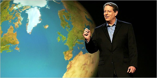 Former US Vice President Al Gore in Davis Guggenheim's 'An Inconvenient Truth.'