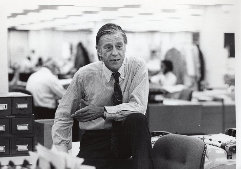 Ben Bradlee, in 'The Newspaperman.' HBO.