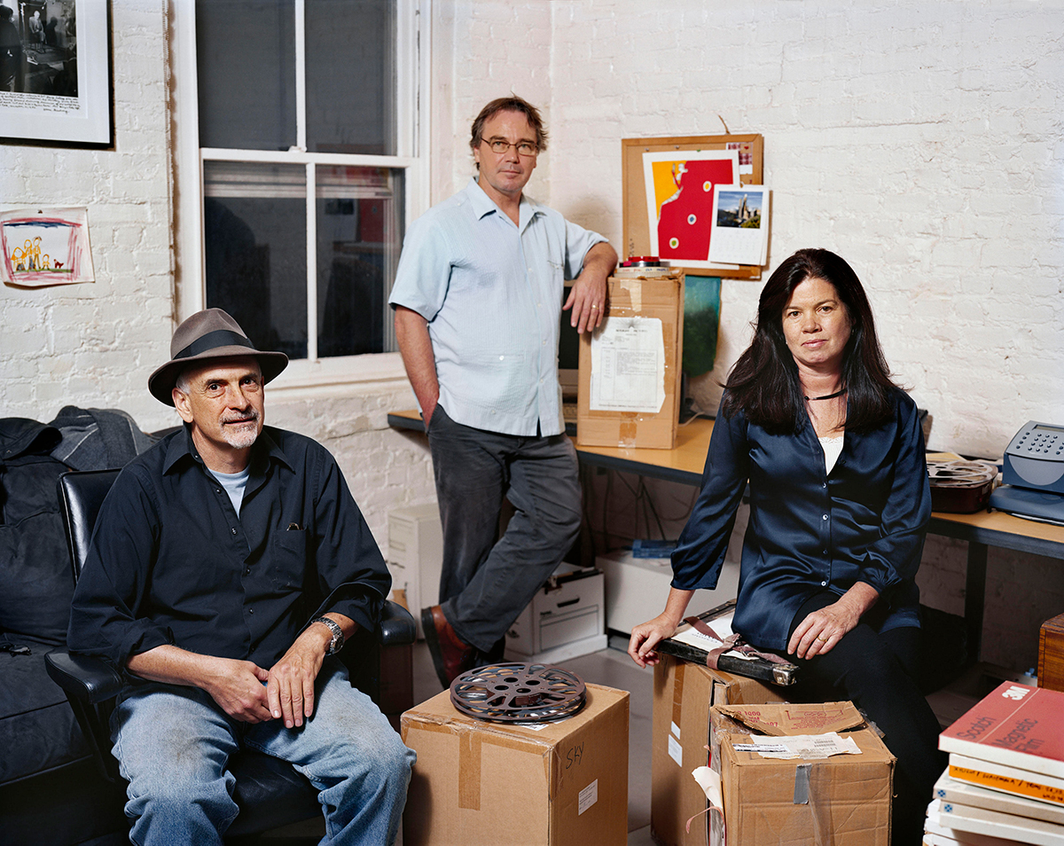 The founding directors of Skylight, left to right:  Peter Kinoy, Paco de Onís and Pamela Yates. Photo credit: Dana Lixenberg/Skylight.is