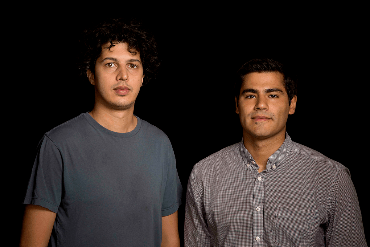 "Sofian Khan (left) and Andrés Caballero, directors of ""The Interpreters."" Photo: Tommy Mendes"