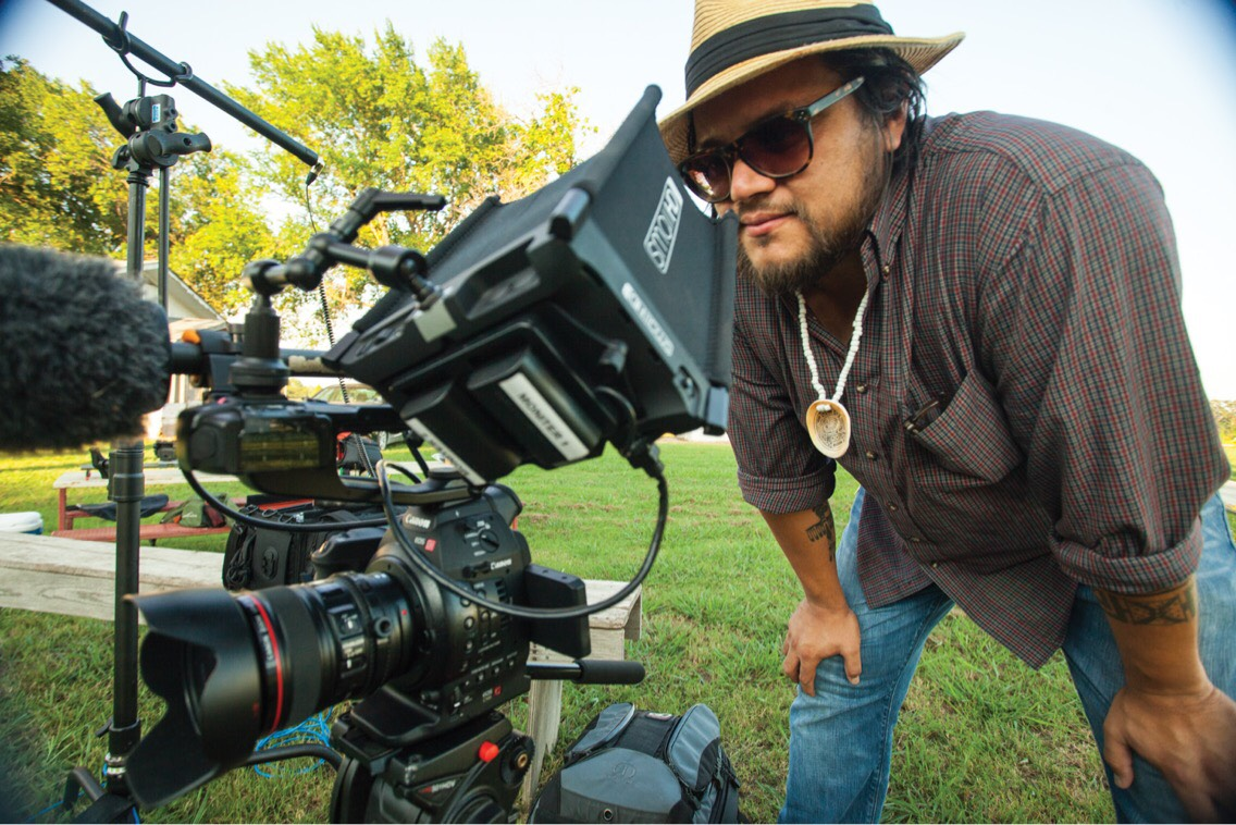 "Filmmaker Sterlin Harjo, shooting his documentary ""This May Be the Last Time."". Photo: Shane Brown."