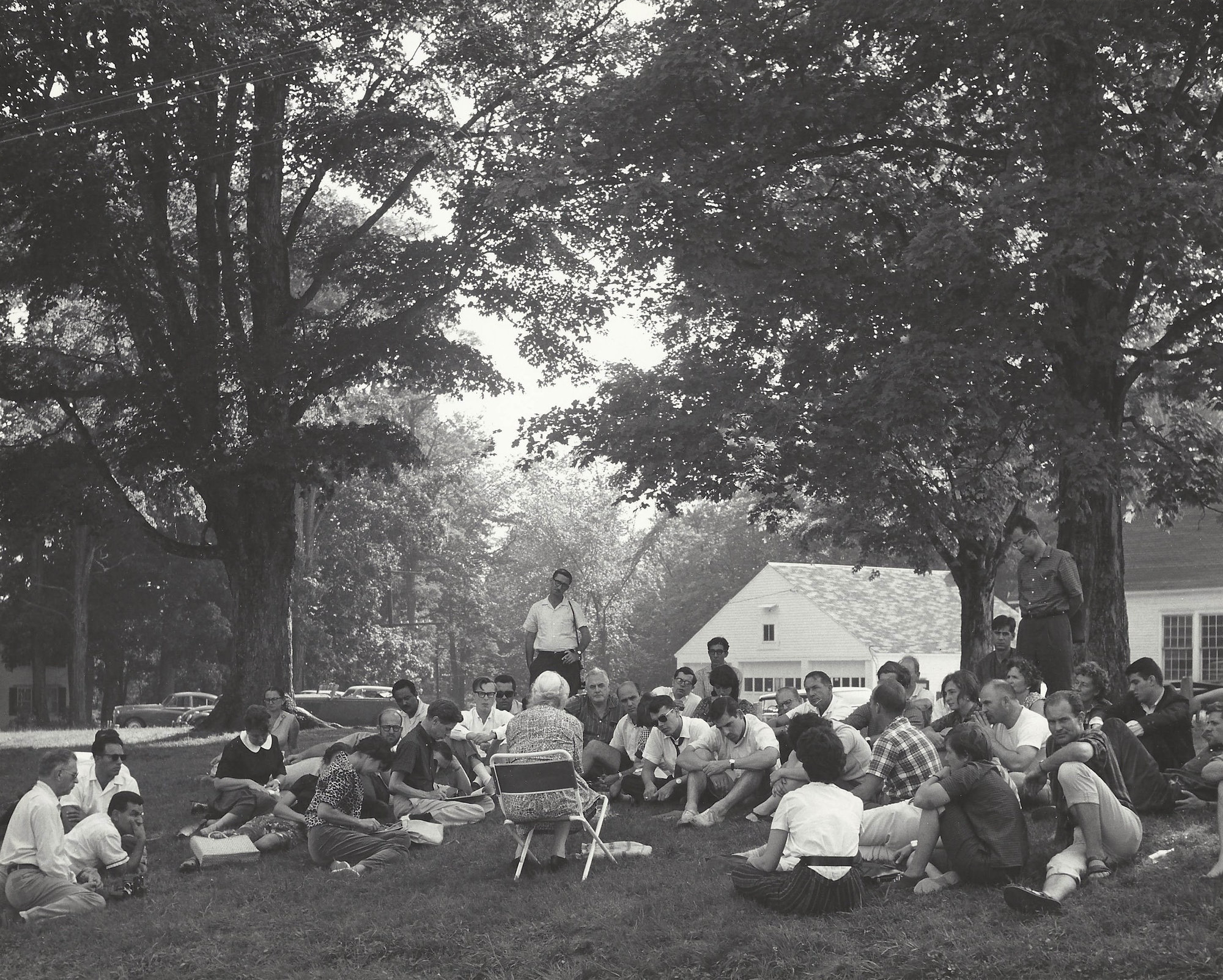 The Robert Flaherty Film Seminar at the Flaherty Farm in Vermont circa 1950s (Flaherty at MoMA: Turning the Inside Out, June 21-30, 2014). Courtesy of the Flaherty Seminar.